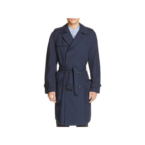 40b63448b9c2a Shop Vince Mens Trench Coat Double-Breasted Lightweight - M - Free ...