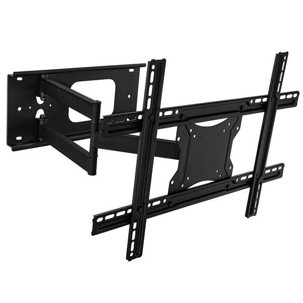 shop mount it articulating full motion tv wall mount bracket for 32 65 inch flat screen tvs. Black Bedroom Furniture Sets. Home Design Ideas