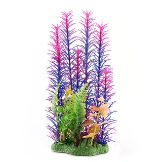 Unique BargainsAquarium Fish Tank Aquatic Ceramic Base Plant Grass Lawn Ornament Multicolor