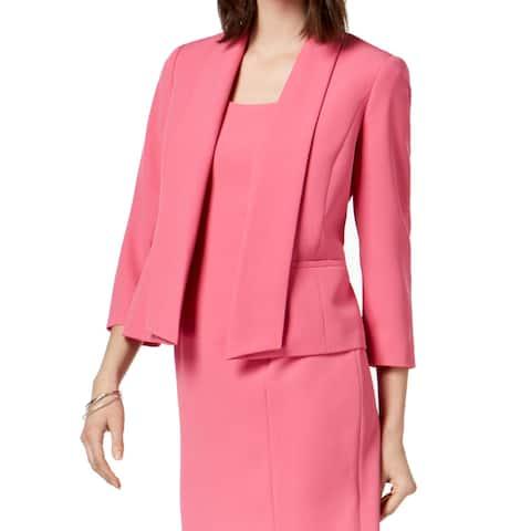 Kasper Women's Jacket Blazer Crepe Career Shawl Collar