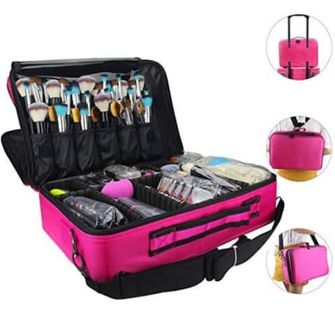 2 Layer Large Size Make Up Artist Box With Adjustable Shoulder For Makeup Brush Set