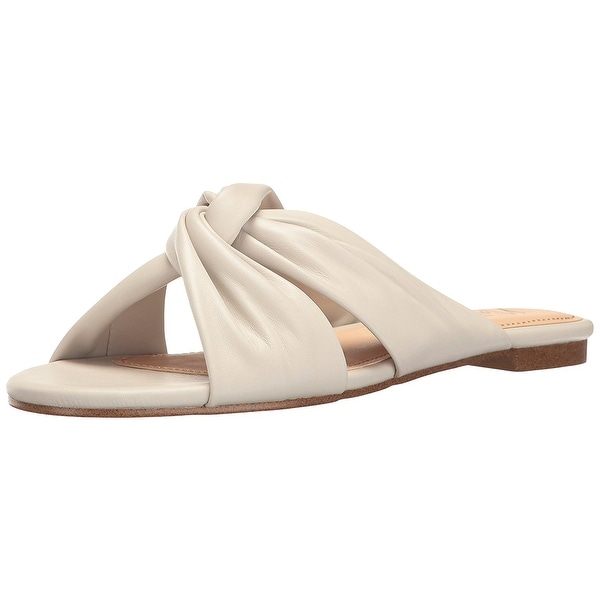 Nanette Lepore Womens Vanda Leather Almond Toe Casual Slide Sandals