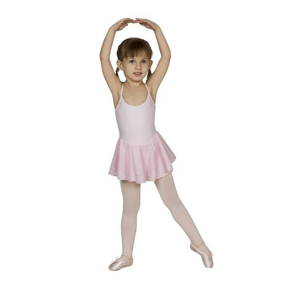 Sansha Pink Fiorella Straps Rhinestones Dance Leotard 4-14