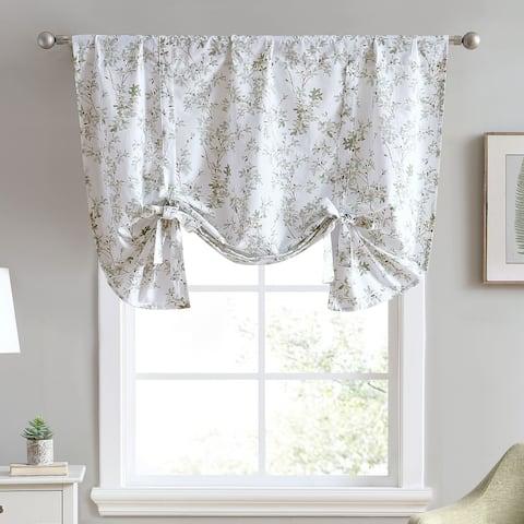 Laura Ashley Lindy Cotton Green Window Valance - 50 x 25