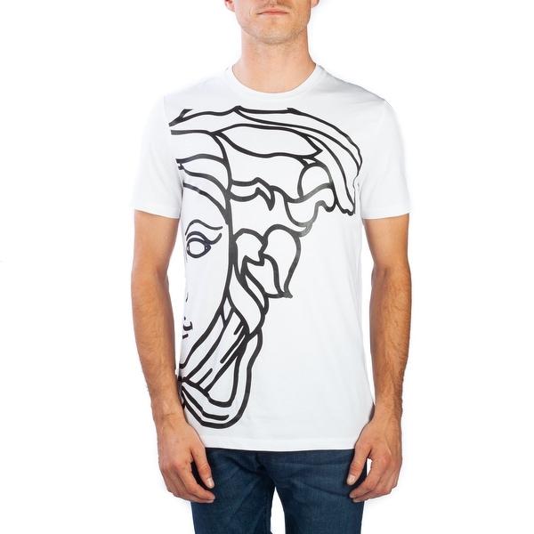 9fa2f6d6 Shop Versace Collection Men's Cotton Medusa Graphic T-Shirt White ...