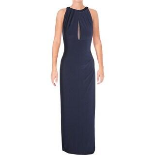 Lauren Ralph Lauren Womens Evening Dress Mesh-Back Jersey