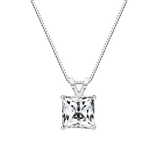 Link to Solstice Sterling Silver Princess Swarovski Zirconia Solitaire Pendant Similar Items in Earrings