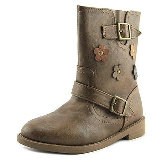 Nina Yola Round Toe Leather Boot