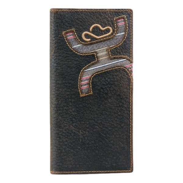 HOOey Western Wallet Mens Signature Rodeo Canvas Brown - 3 1/2 x 3/4 x 7