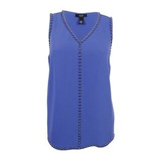 Alfani Women's Plus Size Studded Sleeveless Tunic Blouse