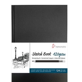 Hahnemuhle Spiral-Bound A4 Sketch Book (Black Cover, 60 Sheets)