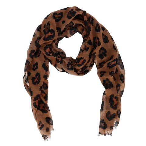 David & Young Women's Leopard Print Scarf - one size