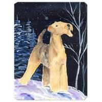 Starry Night Airedale Mouse Pad
