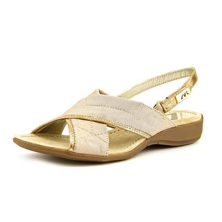 Anne Klein Sport Kachine Women Open-Toe Canvas Slingback Sandal