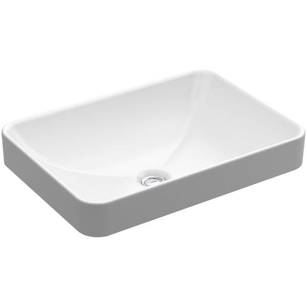 Kohler K-5373 22-5/8in Vox Rectangle Vessel Sink with Overflow - White