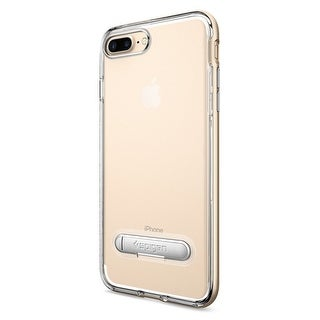 Spigen Crystal Hybrid with Water-Mark Free Clear and Magnetic Metal Kickstand Case for iPhone 7 & 8 Plus - Champagn