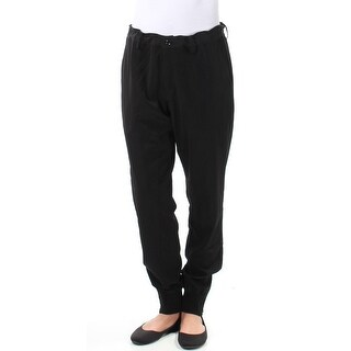 Y Womens New 1035 Black Tie Zippered Ankle Lounge Casual Pants 3 Juniors B+B