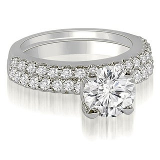 0.95 CT.TW Round Cut Diamond Bridal Set - White H-I