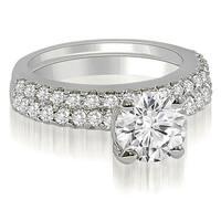 1.35 CT.TW Round Cut Diamond Bridal Set - White H-I