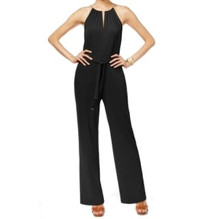 Michael Kors NEW Black Women's Size XS Wide Leg Halter Jumpsuit