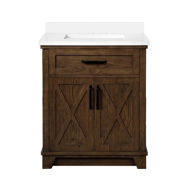 OVE Decors Ollie 30 in. Single Sink Bathroom Vanity Antique Coffee. Opens flyout.