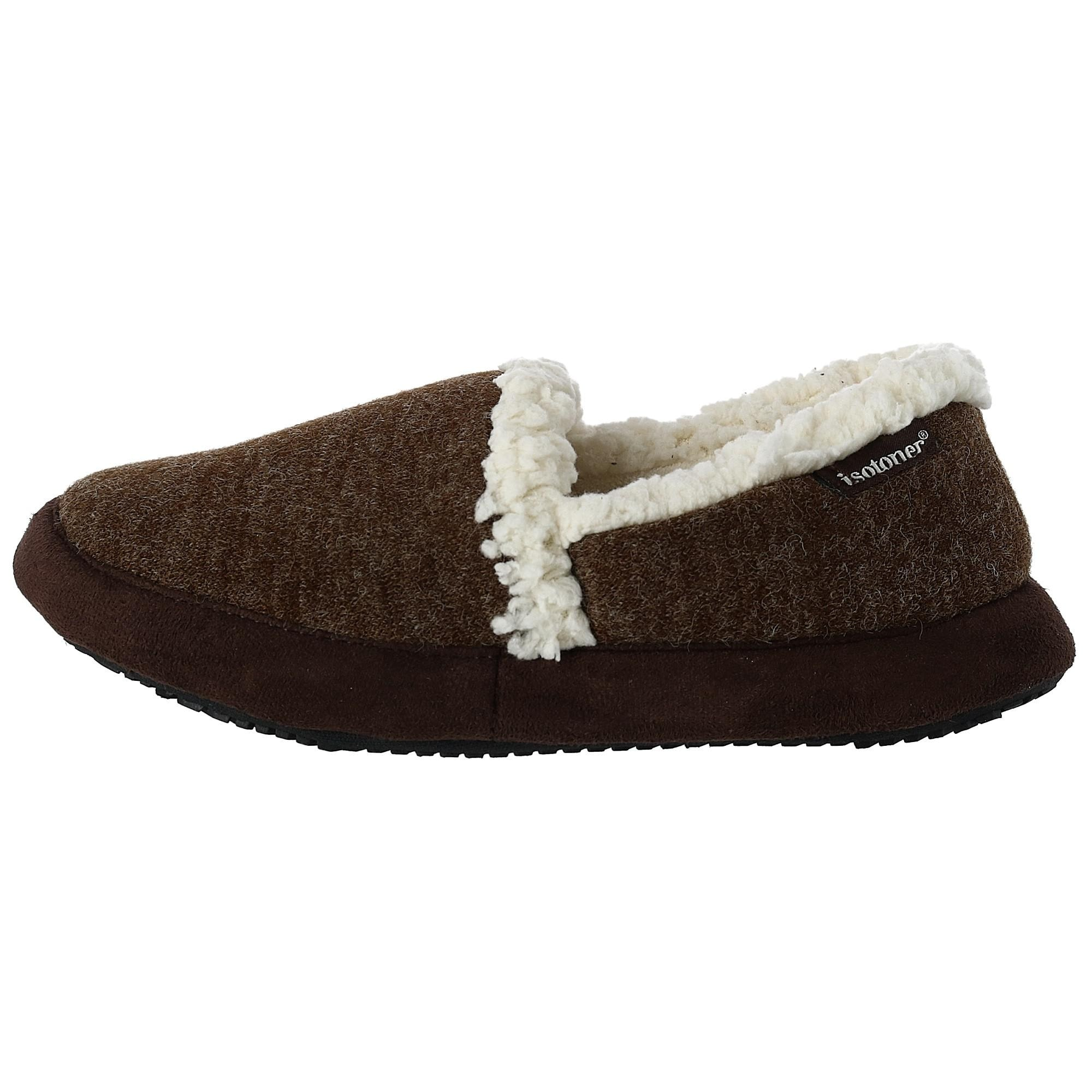 f645dbde8 Shop Isotoner Women's Microsuede Heather Knit Marisol Closed Back Scuff  Slipper - Free Shipping On Orders Over $45 - Overstock - 23513646