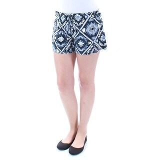 Womens Gray, White Tribal Cropped Short Juniors Size S