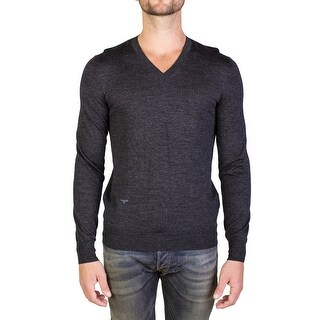 Dior Homme Virgin Wool V-Neck Sweater Charcoal Grey