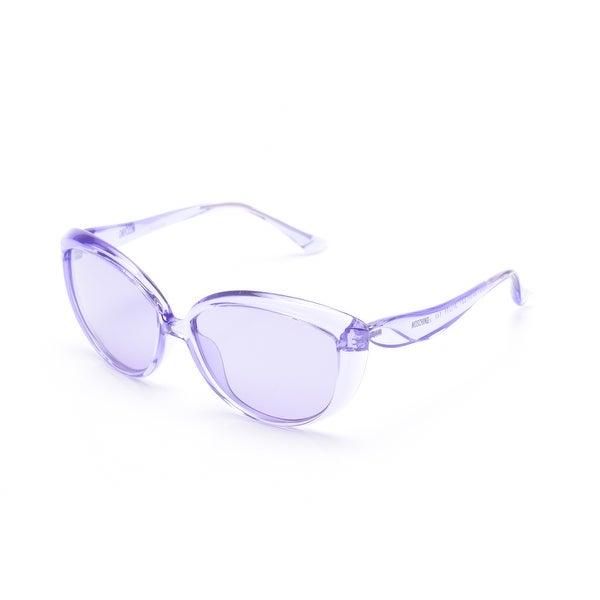 d079603d9 Shop Moschino Women's Oversized Cat Eye Sunglasses Purple - Small - Free  Shipping Today - Overstock - 12299383