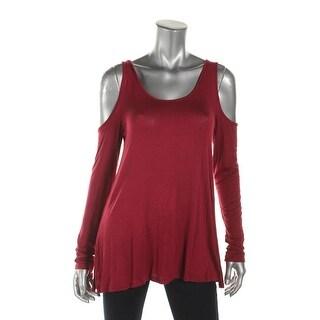 Ultra Flirt Womens Blouse Cold Shoulder Knit - m