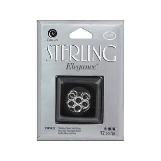Cousin Sterling Elegance Split Ring 6mm 12pc