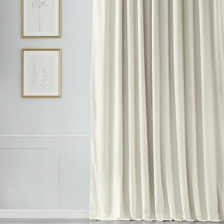 Link to Exclusive Fabrics Off White Velvet Blackout Extra Wide Curtain Panel Similar Items in Curtains & Drapes