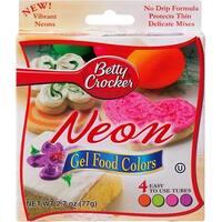 Betty Crocker Gel Icing Food Colors 4/Pkg-Neon