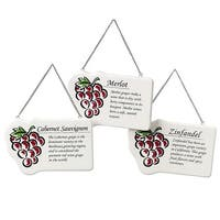 Zinfandel Wine Red Grape Plaque Christmas Ornament