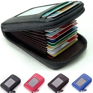 Fashion Men'S/Women'S Mini Leather Wallet Id Credit Cards Holder Purse