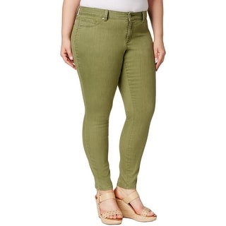 Jessica Simpson Womens Plus Kiss Me Colored Skinny Jeans Twill Colored Wash - 16W