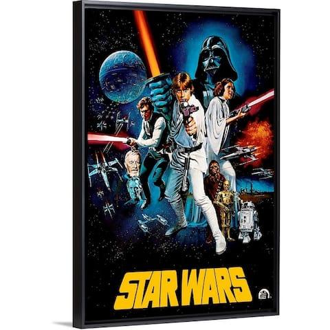 """""""Star Wars (1977)"""" Black Float Frame Canvas Art"""
