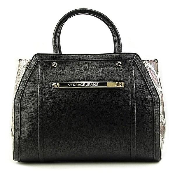 Versace Jeans Couture E1VMBBZ2 Women Leather Black Satchel