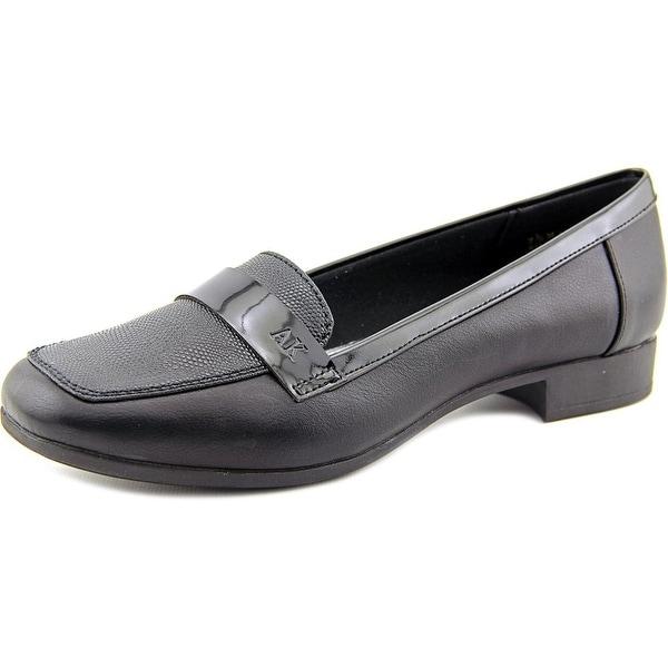 941f026dacc Shop Anne Klein AK Vittorio Women Round Toe Synthetic Black Loafer ...