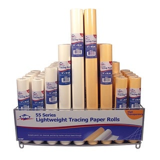 Alvin 55y J Lightweight Yellow Tracing Paper Roll 24 X 50yd