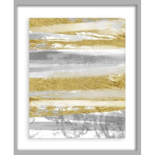 PTM Images 2-13679 Linear Silver and Gold Abstract Wall Art - N/A