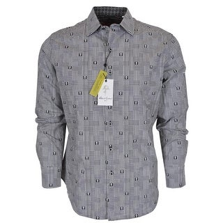 Robert Graham DITTMER Black Skull Print Button Down Sports Dress Shirt 2XL