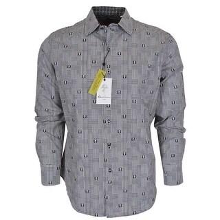Robert Graham DITTMER Black Skull Print Button Down Sports Dress Shirt 3XL