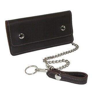 CTM® Men's Leather Large Trucker Chain Wallet - One Size