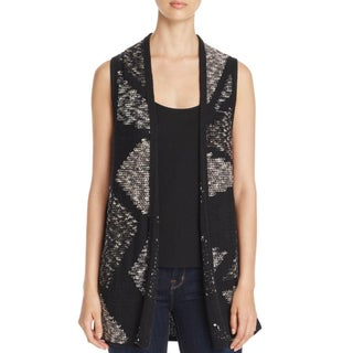Nic + Zoe Womens Sweater Vest Crossover Knit