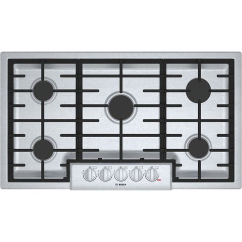 Bosch NGM8656UC 800 Series 36 Inch Wide Built-In Gas Cooktop with 5 Sealed Burne - STAINLESS STEEL - N/A