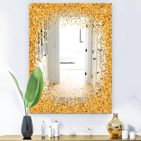 Designart 'Capital Gold Sparkle 21' Glam Mirror - Accent or Vanity Mirror