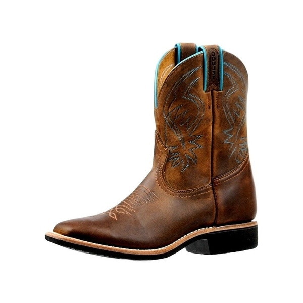 Boulet Western Boots Womens Wide Square Lined Hillbilly Golden