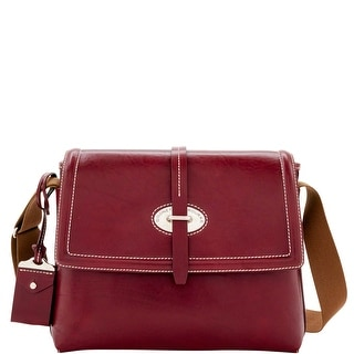 Dooney & Bourke Florentine Toscana Messenger Bag (Introduced by Dooney & Bourke at $448 in Sep 2016) - Bordeaux