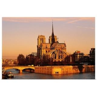 """Morning light on Notre Dame, Paris, France"" Poster Print"